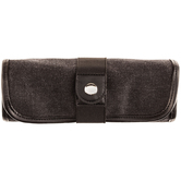 Black Canvas Roll Up Pencil Case