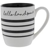 Hello Handsome Striped Mug