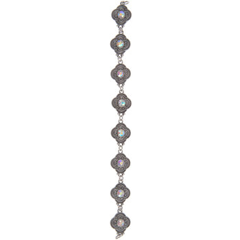 Clover Connector Strand With Rhinestones