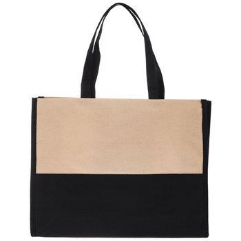 Black & Natural Canvas Tote Bag