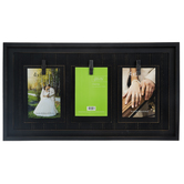 Black Distressed Wood Clip Collage Frame