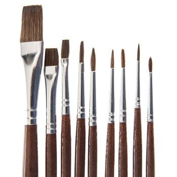 Camel Paint Brushes - 9 Piece Set