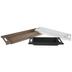 Black, White & Brown Wood Trays Set