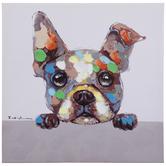 Curious Dog Canvas Wall Decor