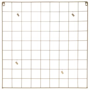 Gold Square Metal Wire Memo Board