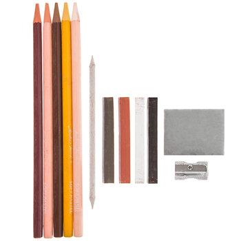 Pastel Drawing Pencils - 12 Piece Set