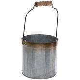 Ridged Galvanized Metal Bucket