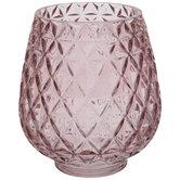 Pink Diamond Textured Vase - Small