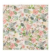 """Earth Tone Floral Scrapbook Paper - 12"""" x 12"""""""