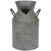 Cracked Metal Ridged Milk Can