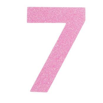 Glitter Wood Number - 7