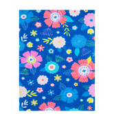 Blue Floral Felt Sheet