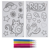 Colorable Stickers & Markers