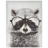 Raccoon With Glasses Canvas Wall Decor