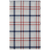 White, Red & Blue Plaid Table Cloth