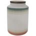 Green, White & Red Striped Jar - Large