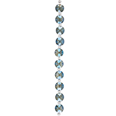 Blue Faceted Disc Glass Bead Strand