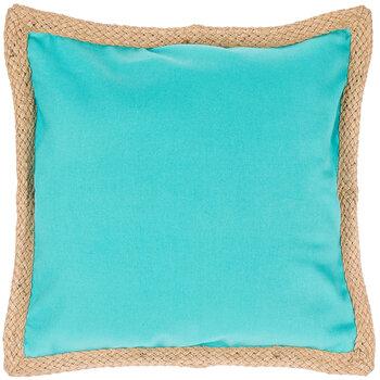Canvas Jute Trim Pillow Cover