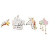 Unicorn & Star Enamel Charms