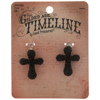 Black Rhinestone Cross Pendants