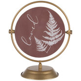 Loved & Blessed Rotating Metal Decor