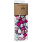 Pink, Purple & Mint Bead Mix