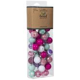 Pink, Purple & Mint Bead Mix