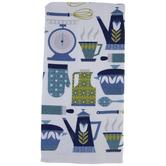 Retro Blue Accessories Kitchen Towel