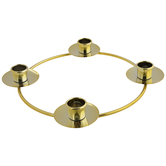 Gold Metal Advent Candle Holder