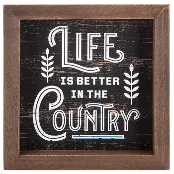 Better In The Country Wood Decor