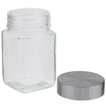 Square Glass Mason Jar