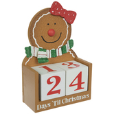 Gingerbread Woman Countdown Calendar