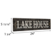 Lakehouse Wood Wall Decor With Hooks