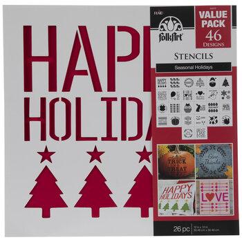 FolkArt Holiday Stencils