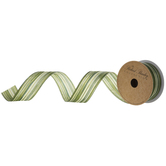 "Imitation Aspid Wired Edge Satin Ribbon - 1 1/2"""