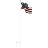 American Flag Metal Garden Stake