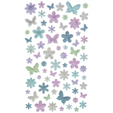 Butterflies & Flowers Shimmer Stickers