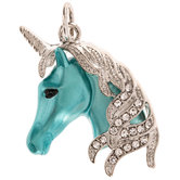 Blue Unicorn Charm