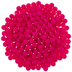 Fluorescent Pink Round Plastic Beads