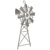 Galvanized Windmill Ornament