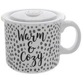 Warm & Cozy Dotted Soup Mug