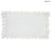 White Velvet Lumbar Pillow with Pom Poms