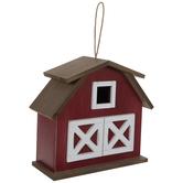 Red Barn Wood Birdhouse