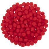 Red Pom Poms - 7mm