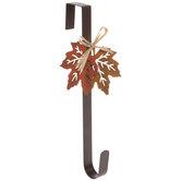 Fall Leaves Metal Wreath Hanger