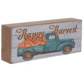 Happy Harvest Truck & Pumpkins Wood Decor