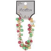 Festive Cluster Glass Pearl Bracelet