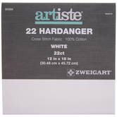 "White 22-Count Hardanger Cross Stitch Fabric - 12"" x 18"""