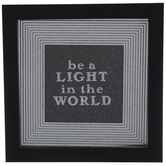 Be A Light Framed Wall Decor