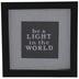 Be A Light Framed Wall Decor